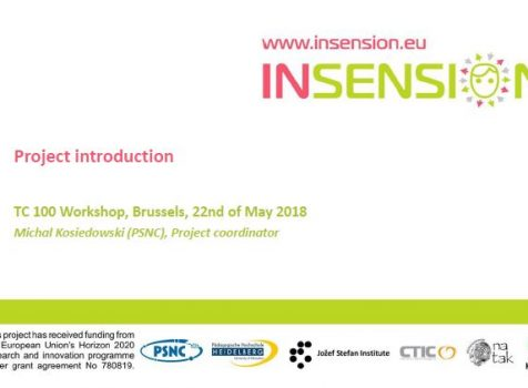INSENSION on IEC TC 100 Workshop in Brussel